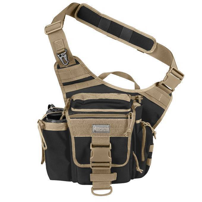 Тактическая сумка Maxpedition Jumbo Versipack Black Khaki