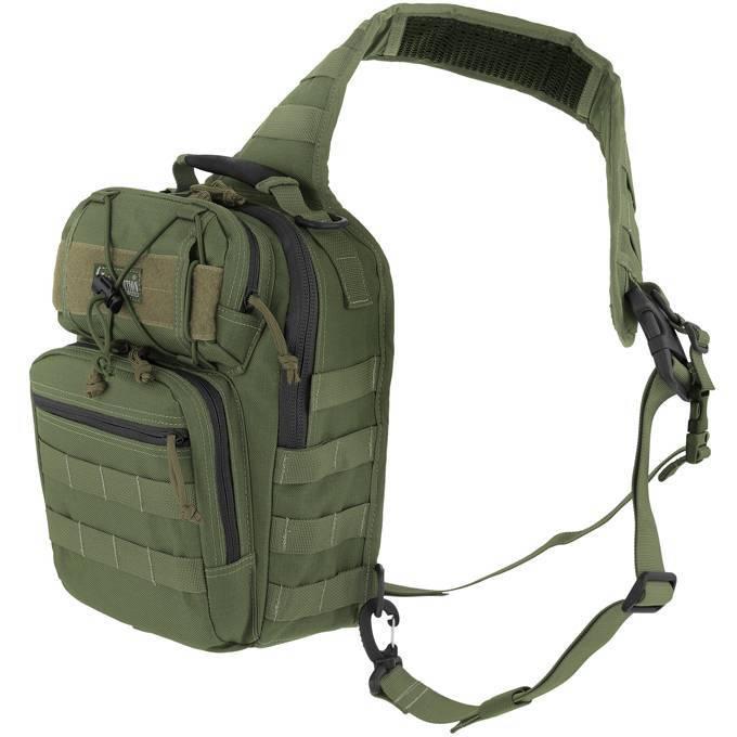 Однолямочный тактический рюкзак Maxpedition Lunada Gearslinger Green