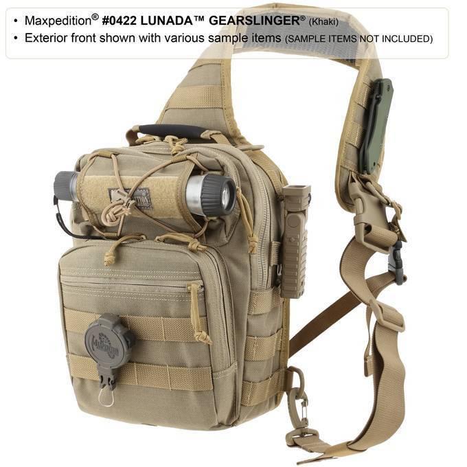 Maxpedition Lunada Gearslinger Black 0422B  422B