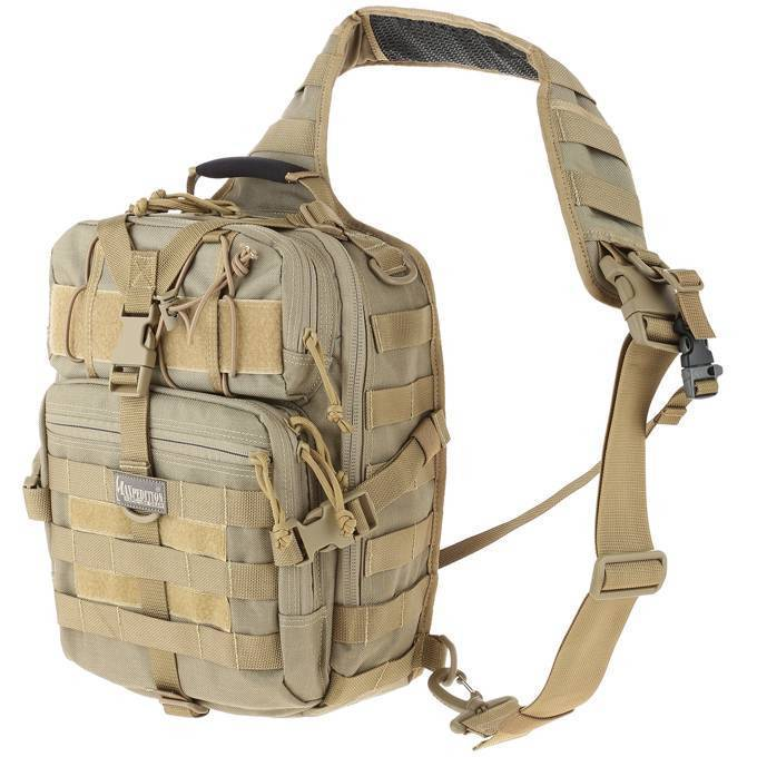 Однолямочный рюкзак Maxpedition Malaga Gearslinger Khaki