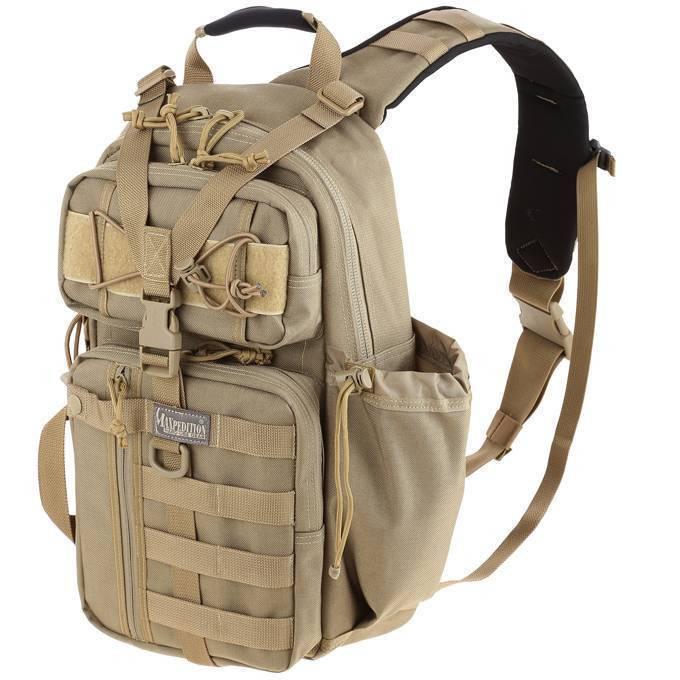 Однолямочный рюкзак Maxpedition Sitka S-type Gearslinger Khaki