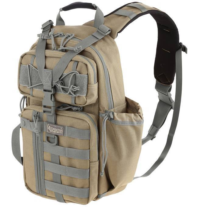 Однолямочный тактический рюкзак Maxpedition Sitka S-type Gearslinger Khaki-Foliage
