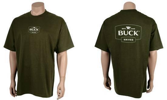 Футболка Buck зеленая 13000