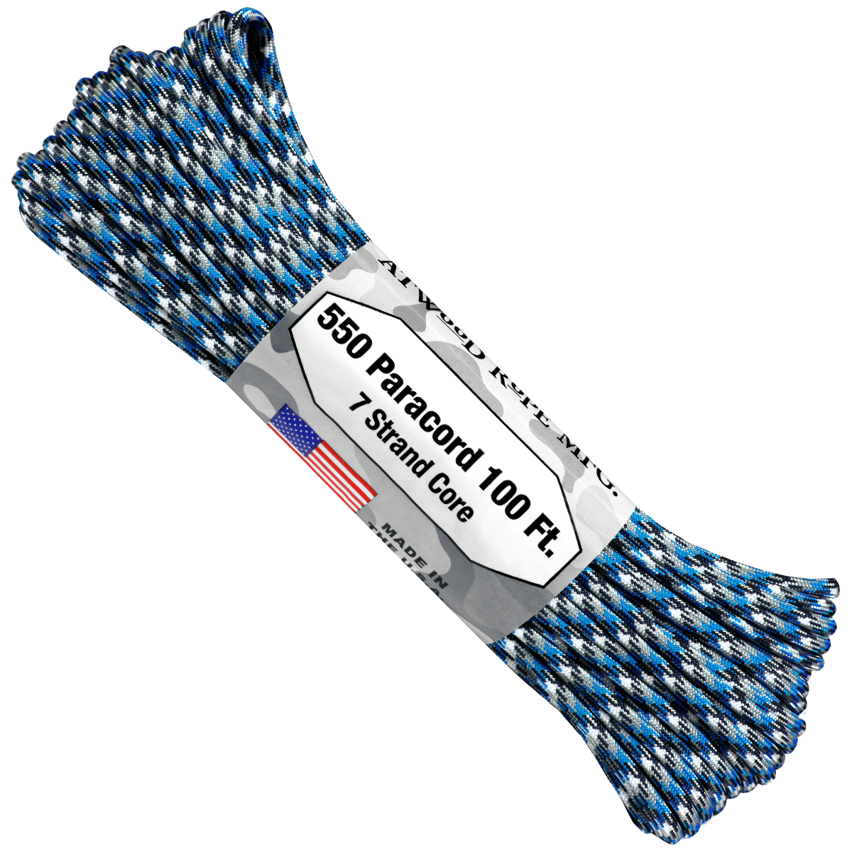 Paracord Atwood Rope MFG 550 Blue Camo
