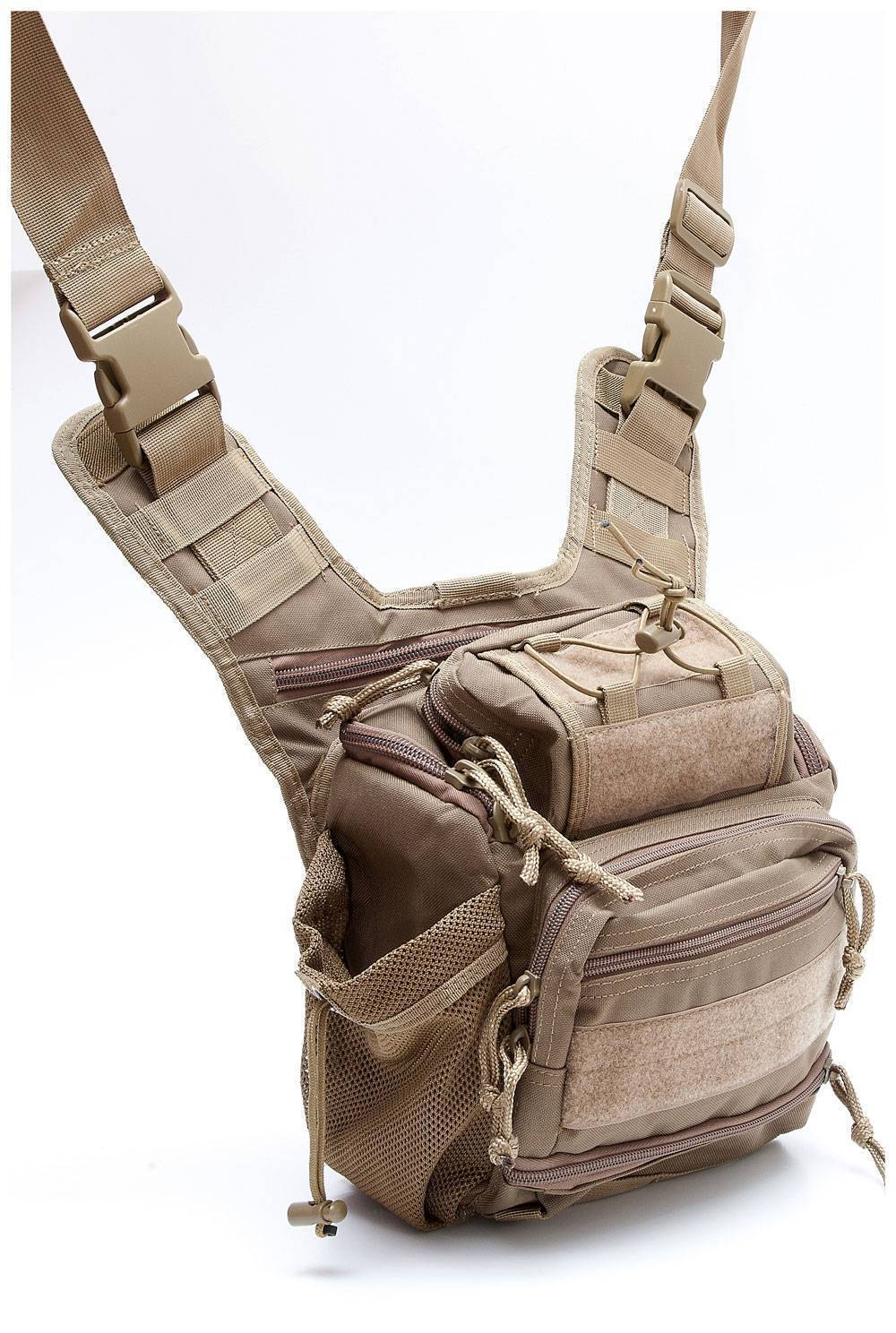 Тактическая плечевая сумка Defcon 5 Tactical shoulder bag multi pocket Coyote Tan D5-MSB05CT