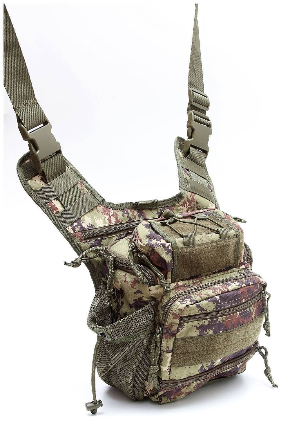 Тактическая плечевая сумка Defcon 5 Tactical shoulder bag multi pocket Vegetato Italiano D5-MSB05VI