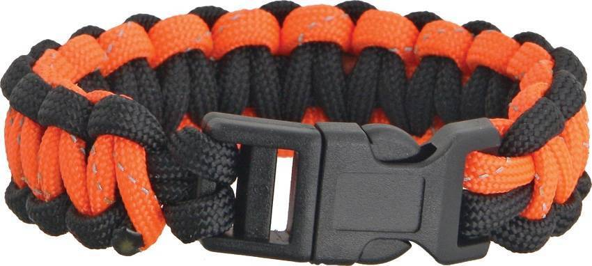 Браслет из паракорда Knotty Boys Survival Bracelett Black/Orange Reflective
