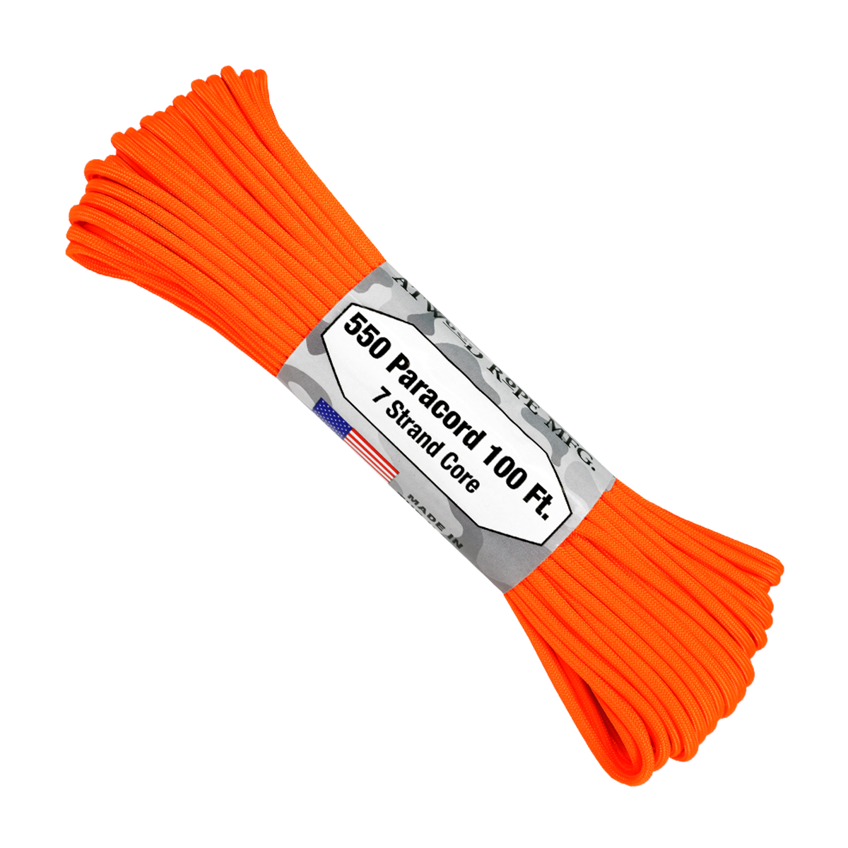 Paracord Atwood Rope MFG 550 Neon Orange