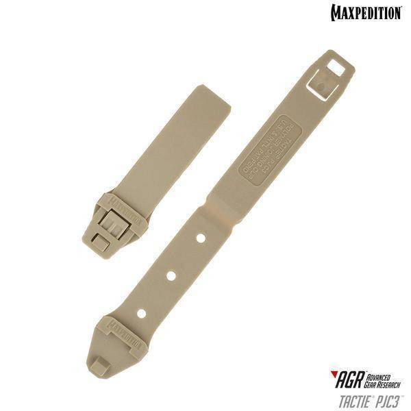 Maxpedition TacTie PJC3 Polymer Joining Clips Tan