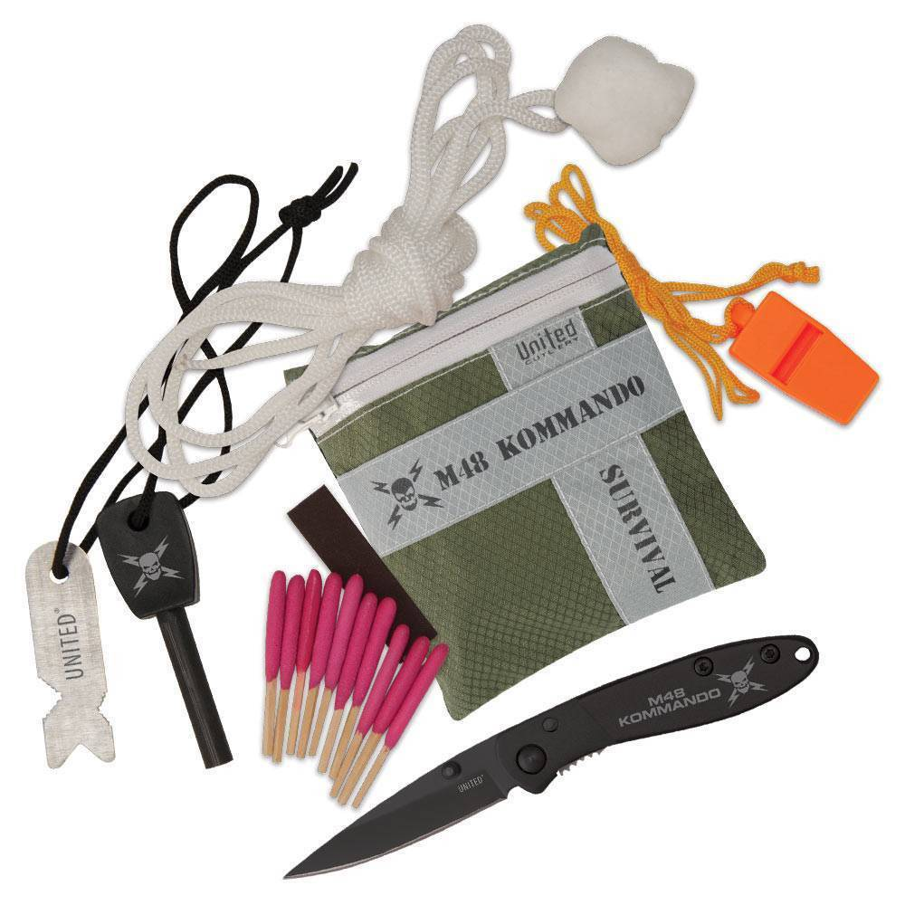 Набор выживания United Cutlery M48 Kommando 8-Pc Adventure Survival Kit