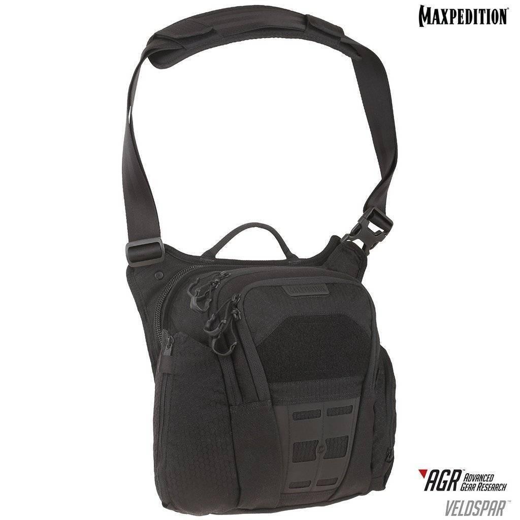 Maxpedition Veldspar™ Crossbody Shoulder Bag Black