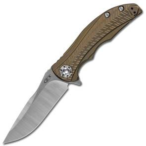 Складной нож Zero Tolerance ZT0609 RJ Martin Pivotless Pivot Bronze Ti
