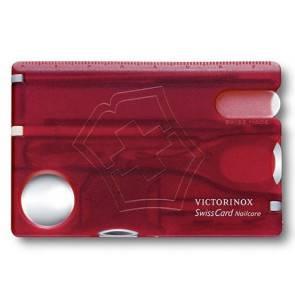 Швейцарская карточка Victorinox SwissCard Nailcare Red