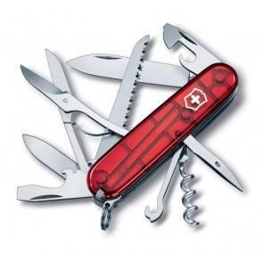 Швейцарский складной многофункциональный нож Victorinox Huntsman TransRed