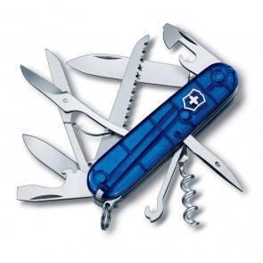 Швейцарский складной многофункциональный нож Victorinox Huntsman TransBlue