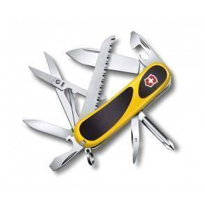 Швейцарский складной многофункциональный нож Victorinox EvoGrip 18 Yellow Black