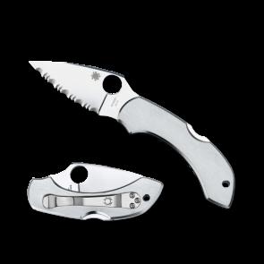 Складной карманный нож Spyderco Dragonfly, Stainless handles, VG-10 Steel, Full Serrated