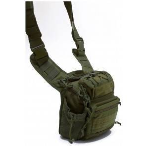 Тактическая плечевая сумка Defcon 5 Tactical shoulder bag multi pocket OD Green D5-MSB05OD