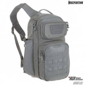Однолямочный рюкзак Maxpedition Gridflux™ Ergonomic Sling Pack Gray