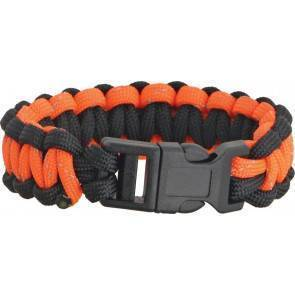 Браслет из паракорда Knotty Boys Survival Bracelett Black/Orange Reflective (Medium)
