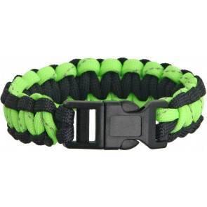 Браслет из паракорда Knotty Boys Survival Bracelett Black/Green Reflective (Medium)