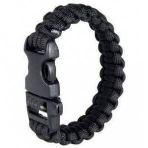 Браслет из паракорда Tactical Wrist Band Black (200mm) WWBDBLK200